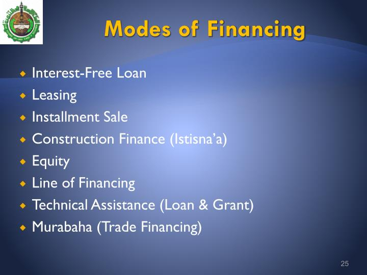 Modes of Financing