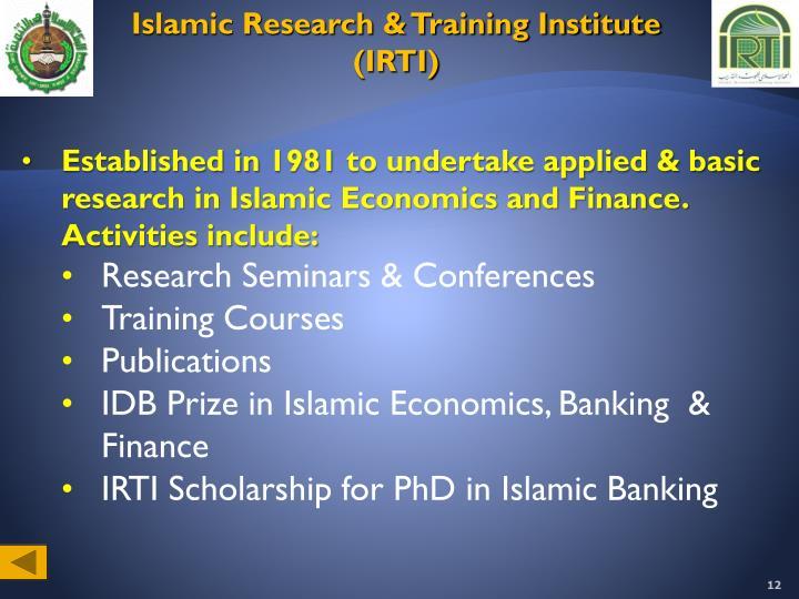 Islamic Research & Training Institute (IRTI)
