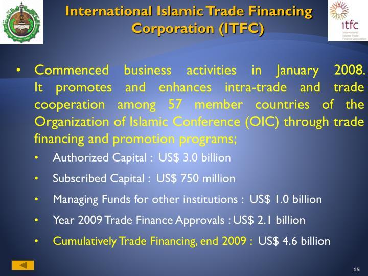 International Islamic Trade Financing Corporation (ITFC)