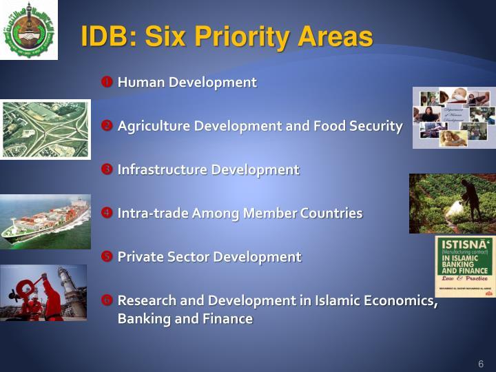 IDB: Six Priority Areas