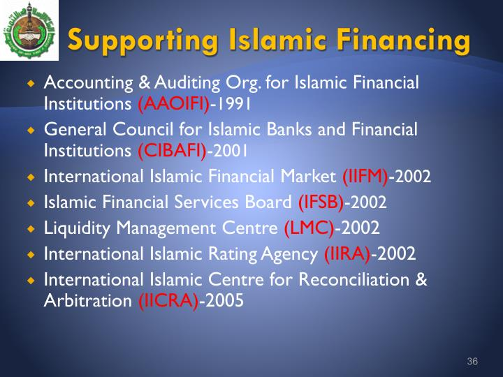 Supporting Islamic Financing
