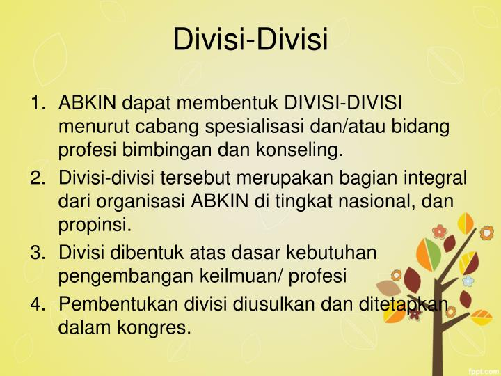 Divisi-Divisi