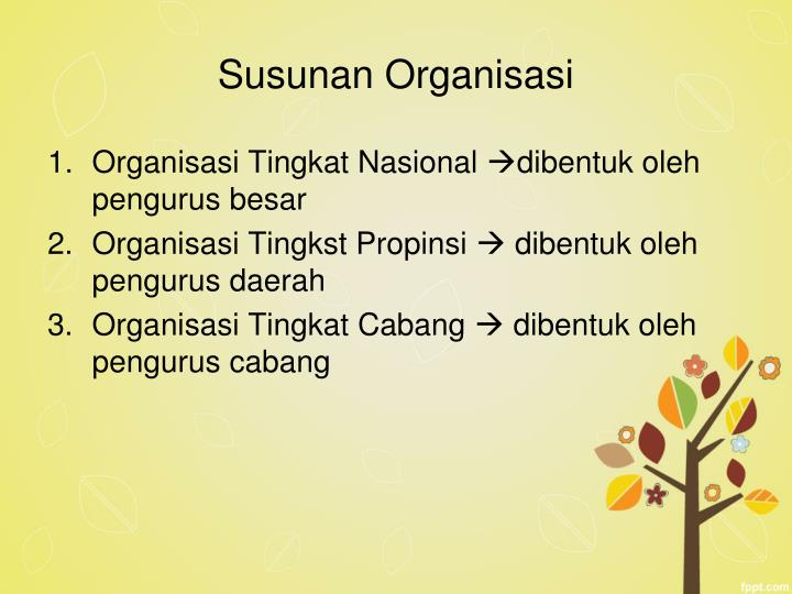 Susunan Organisasi
