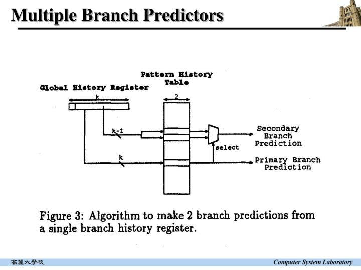 Multiple Branch Predictors