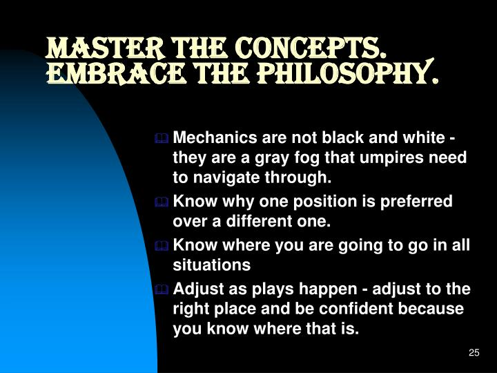 Master the Concepts.