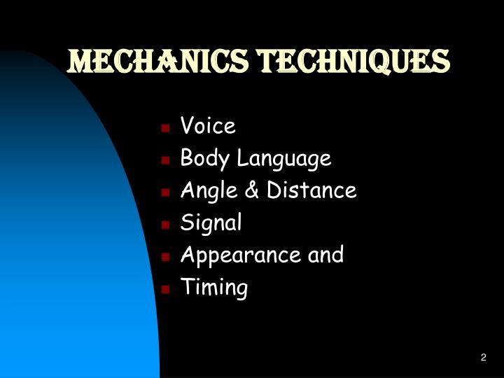 Mechanics Techniques