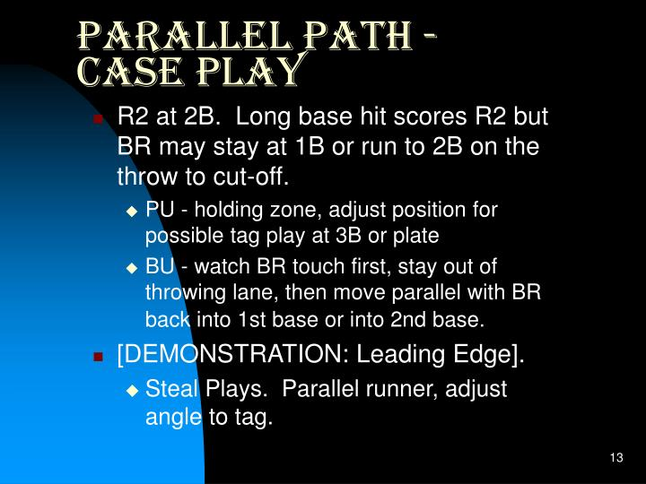Parallel Path - Case Play