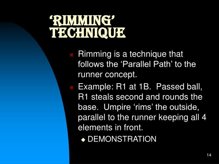 'Rimming' Technique