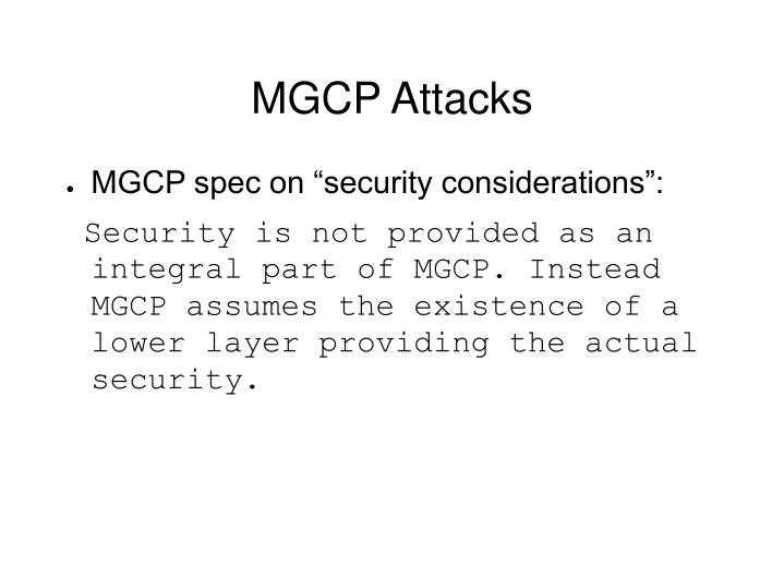 MGCP Attacks