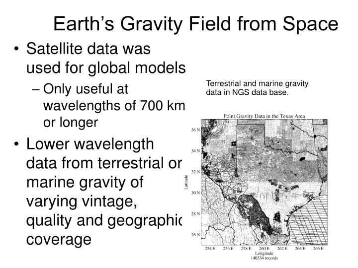 Earth's Gravity Field from Space