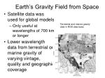 earth s gravity field from space