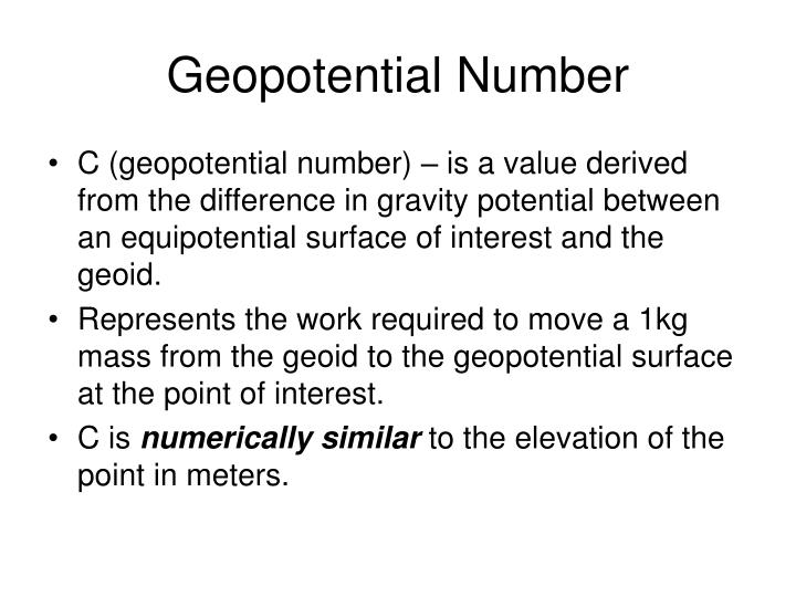 Geopotential Number