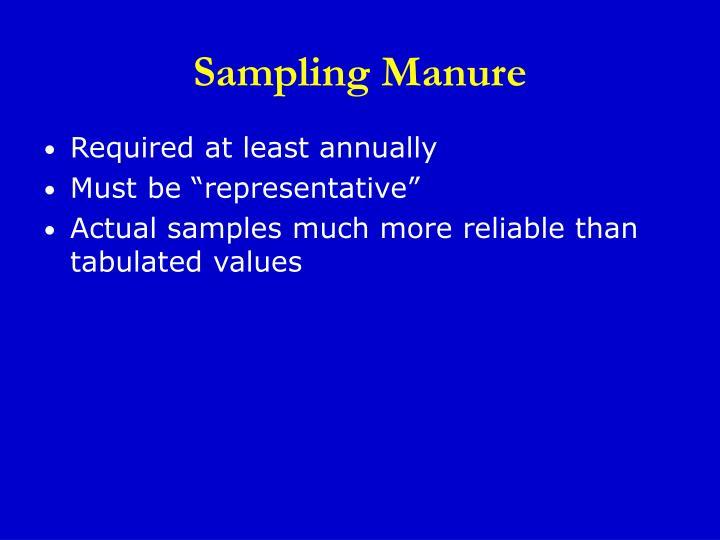 Sampling Manure
