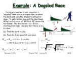 example a dogsled race