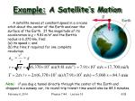 example a satellite s motion