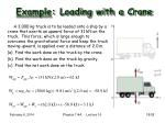 example loading with a crane