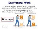 gravitational work
