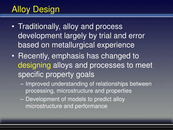 Alloy Design