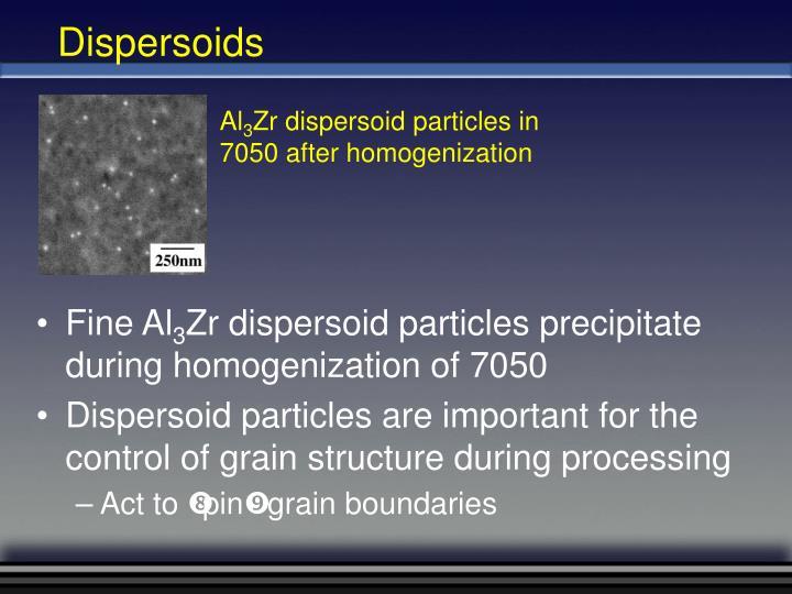 Dispersoids
