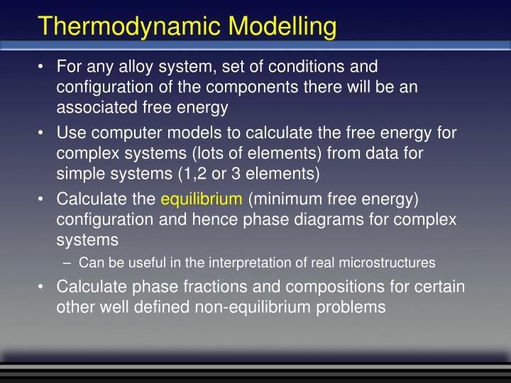 Thermodynamic Modelling