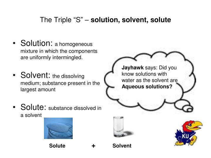"The Triple ""S"" –"