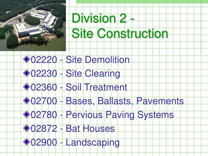 Division 2 -
