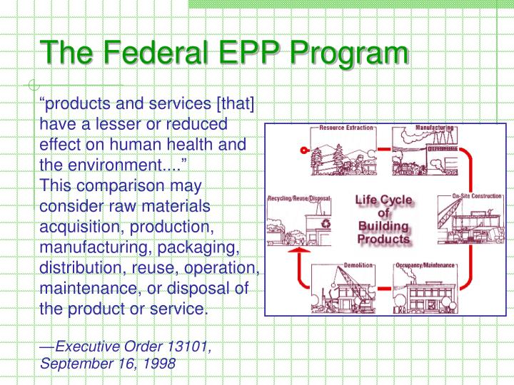 The federal epp program