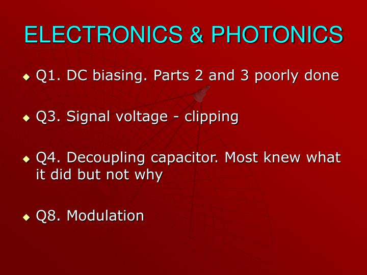 ELECTRONICS & PHOTONICS
