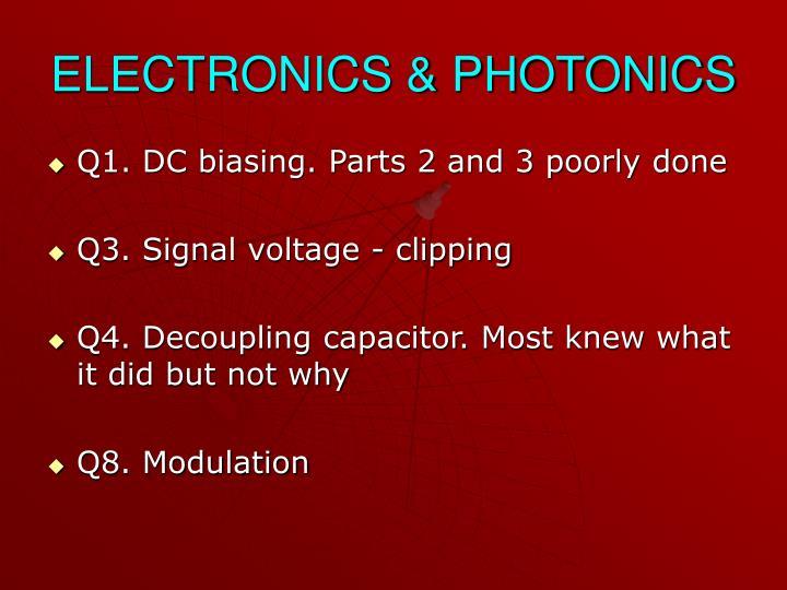 ELECTRONICS & PHOTONICS