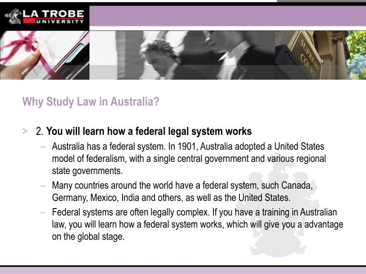 Why Study Law in Australia?