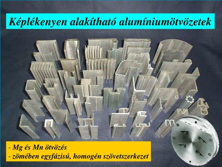 Képlékenyen alakítható alumíniumötvözetek