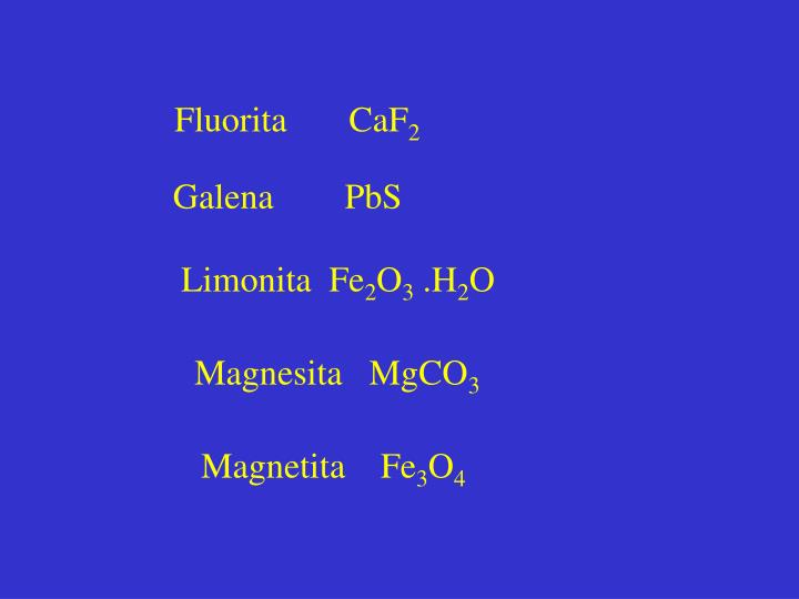 Fluorita       CaF