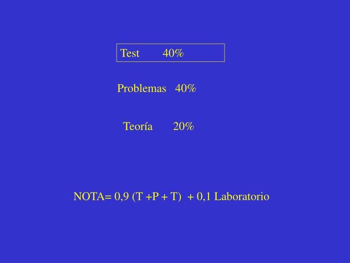 Test        40%