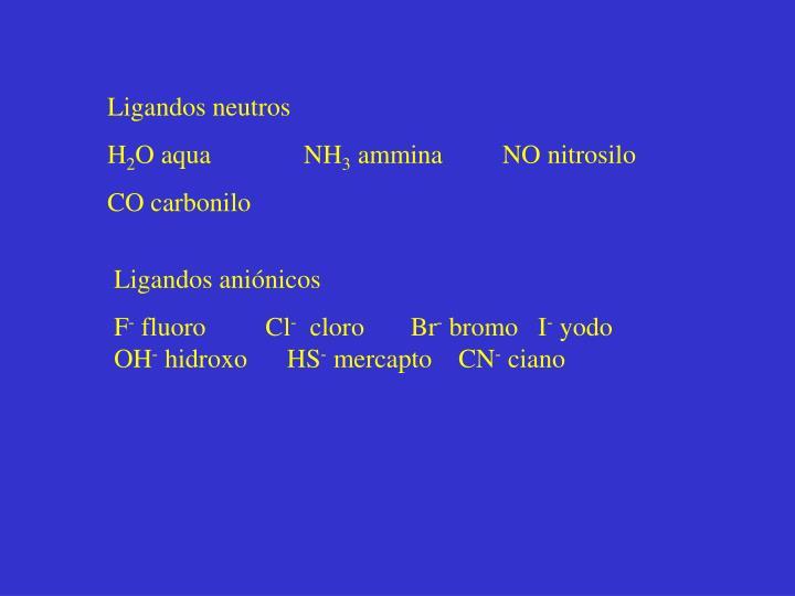 Ligandos neutros
