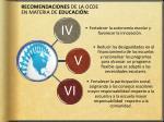 recomendaciones de la ocde en materia de educaci n1