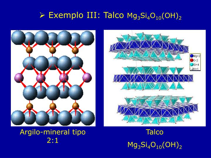 Exemplo III: Talco