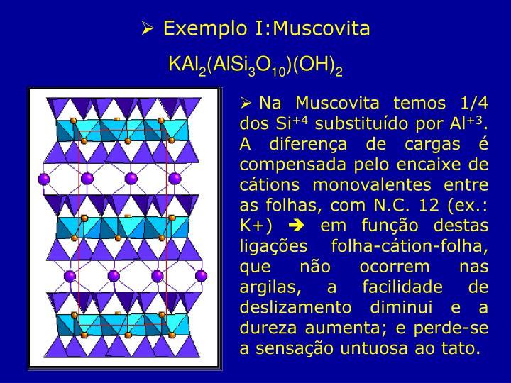 Exemplo I:Muscovita