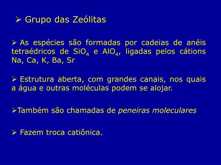 Grupo das Zeólitas