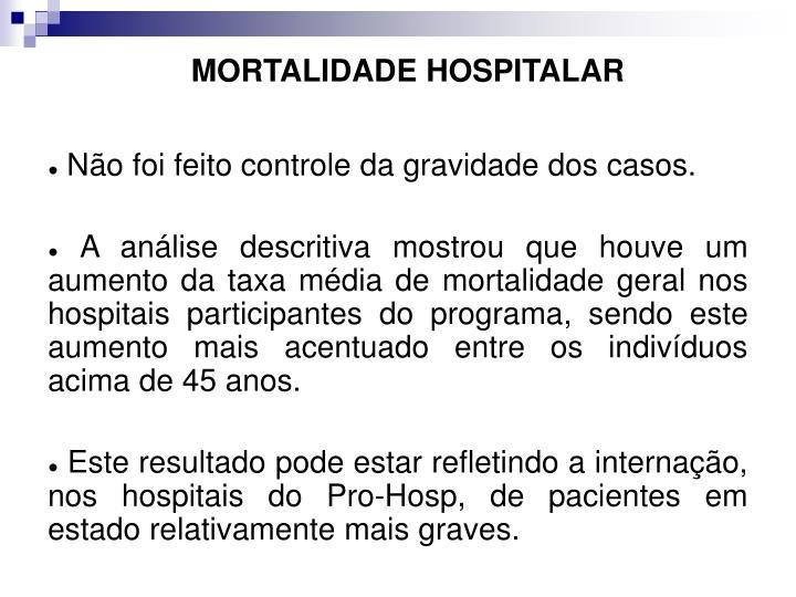 MORTALIDADE HOSPITALAR