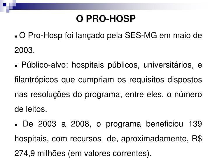 O PRO-HOSP