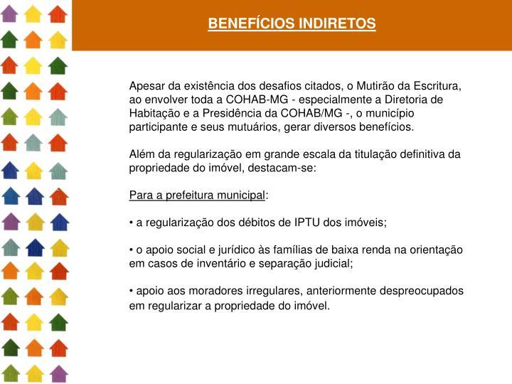 BENEFÍCIOS INDIRETOS