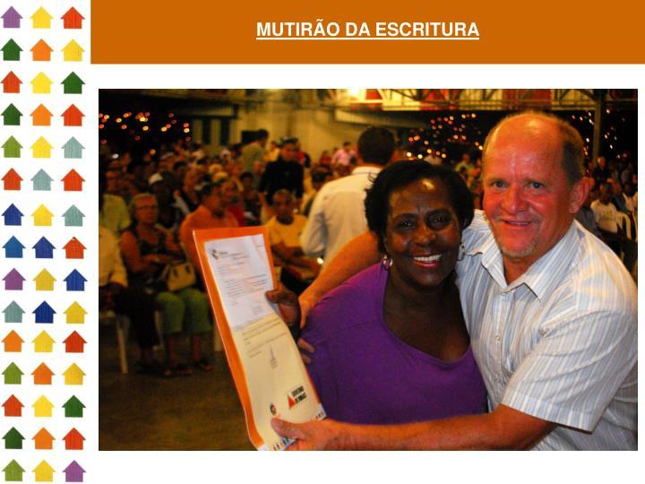 MUTIRÃO DA ESCRITURA