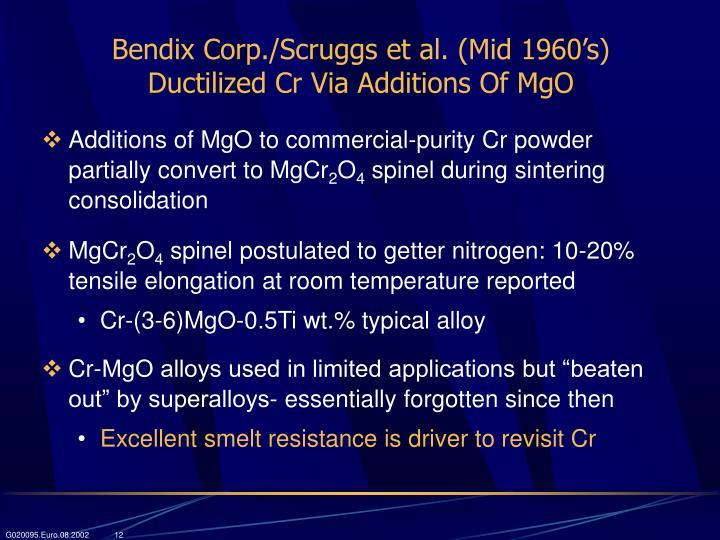 Bendix Corp./Scruggs et al. (Mid 1960's)
