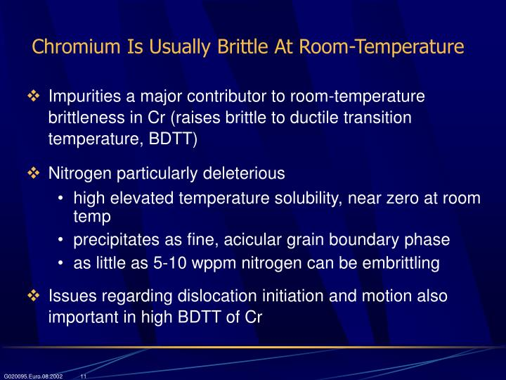 Chromium Is Usually Brittle At Room-Temperature