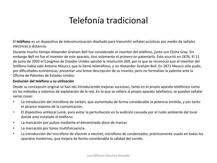 Telefonía tradicional