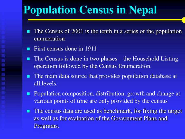 Population census in nepal