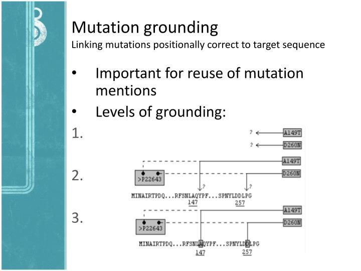 Mutation grounding