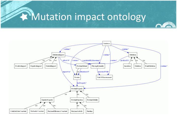 Mutation impact ontology