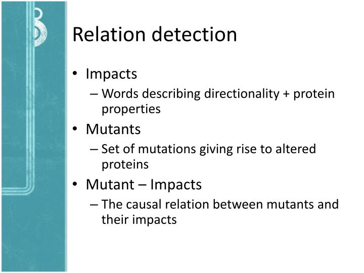 Relation detection