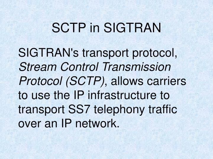 SCTP in SIGTRAN